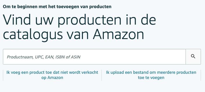 Nieuw product toevoegen aan Amazon